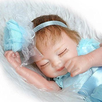 Blue Pinky Mini Reborn Baby Girl 2 Cheap Realistic Baby Dolls