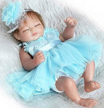 Blue Pinky Mini Reborn Baby Girl Cheap Realistic Baby Dolls
