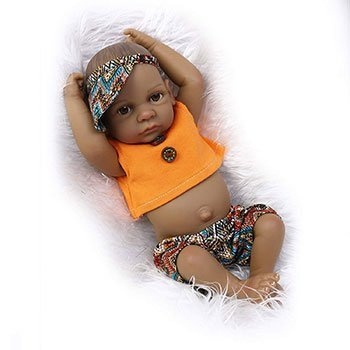 Funny House Black Realistic Baby Doll Black Baby Dolls That Look Real