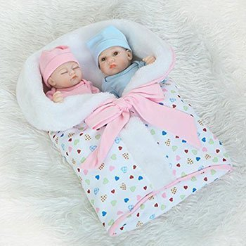 iCradle Lifelike Baby Boy Sleeping Girl Twins 2 Cheap Realistic Baby Dolls