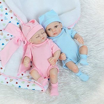 iCradle Lifelike Baby Boy Sleeping Girl Twins Cheap Realistic Baby Dolls