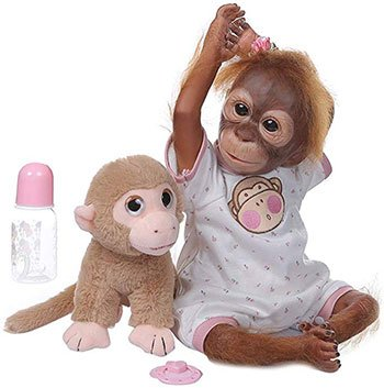 Reborn Animal Dolls Baby Monkey Reborn Doll