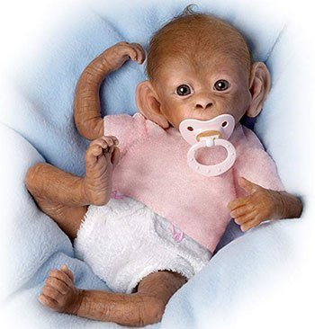 Reborn Animal Dolls Lifelike Newborn Monkey Reborn
