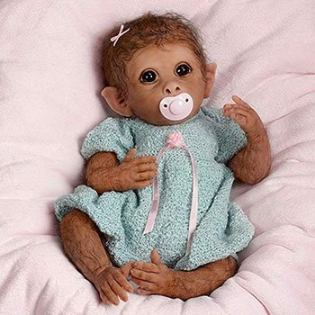 Reborn Animal Dolls Realistic Baby Monkey Reborn Doll