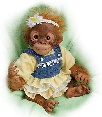 Reborn Animal Dolls Realistic Monkey Reborn Doll