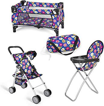 Best Baby Reborn Doll Accessories Doll Stroller Doll High Chair Pack N Play 1