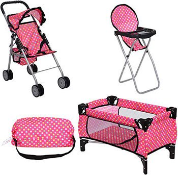 Best Baby Reborn Doll Accessories Doll Stroller Doll High Chair Pack N Play