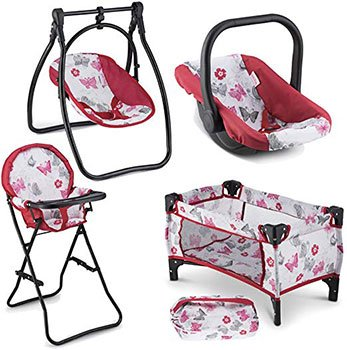 Best Baby Reborn Doll Accessories Swing Chair Carrier Pack N Play