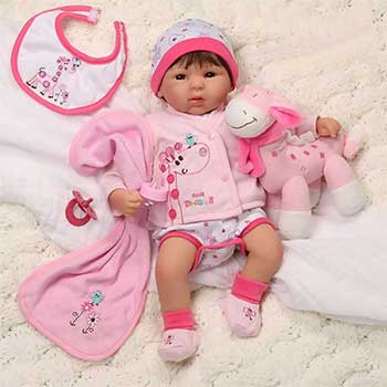 Paradise Galleries Reborn Baby Doll 19 inch 1